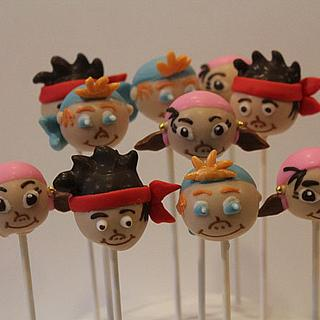 Jake and the Neverland Pirate cakepops