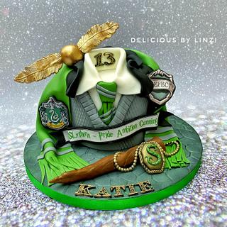 Slytherin Harry Potter birthday cake - Cake by Delicious By Linzi