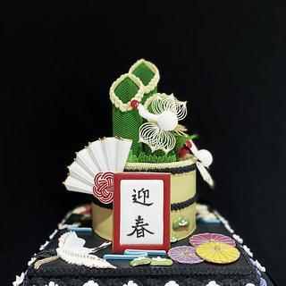 Kadomatsu - Cake by Vicky Chang
