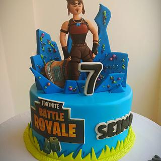 Fortnite cake  - Cake by Maysa