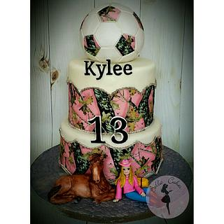 Mossy Oak , Soccer Theme Birthday Cake
