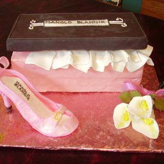 Shoe box cake from Enchanted cakes on FB
