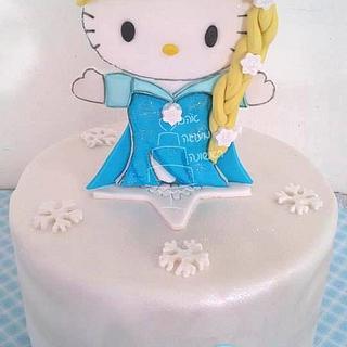 Elsa Kitty Cake