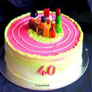 Vanilla cake for 40th birthday