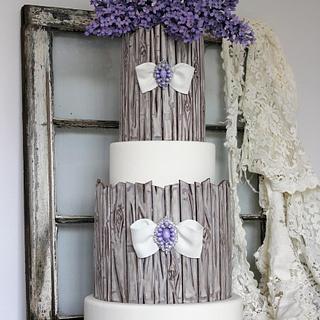 Lilacs & Weathered Wood