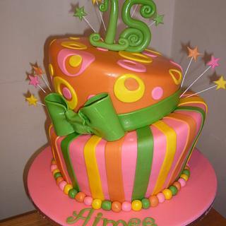 funky topsy turvy - Cake by janicen17