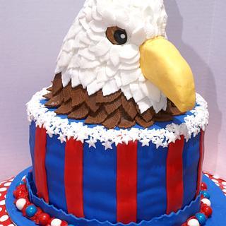 Patriotic Eagle cake