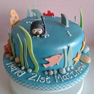 Scuba lover's cake - Cake by Laura