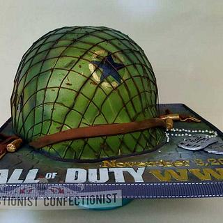 Demonware - Call of Duty WWII cake - Cake by Niamh Geraghty, Perfectionist Confectionist