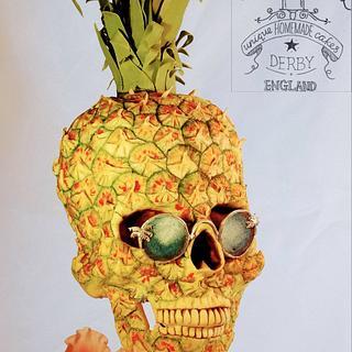 Pineapple Skull Cake Sweet Summer Collab