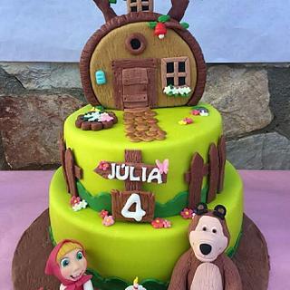 Masha y el oso - Cake by Carcakes