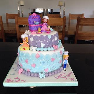 Disney 'Sofia the First' 3rd birthday cake.