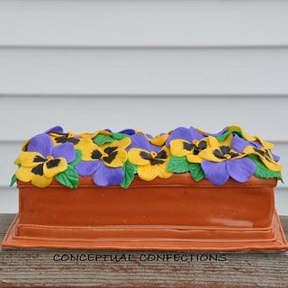 Pansy Window Box Cake