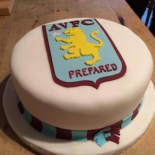 Aston villa cake - Cake by Paul Kirkby