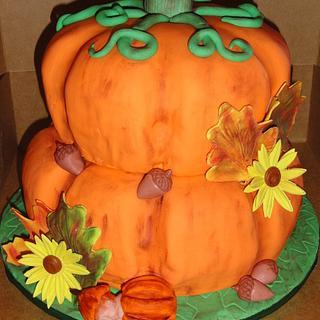 Fall Pumpkin - Cake by Leah
