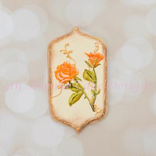 Hand Painted Autumn Rose