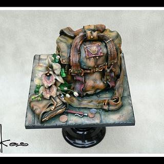 super mums handbag and orchid xx - Cake by kaykes