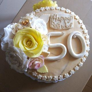 She's 50 - Cake by Tasha