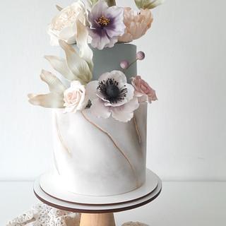 My winter garden - Cake by Silvia Caballero