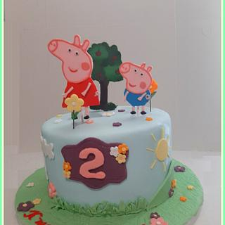 Peppa pig birthday cake - Cake by Konstantina - K & D's Sweet Creations