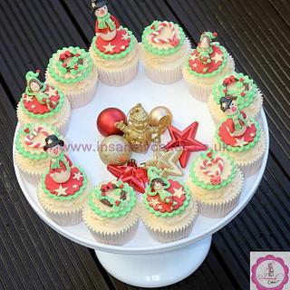 Ho! Ho! Ho! Elf & Snowman Christmas Cupcakes