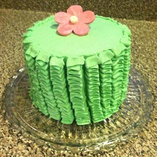 Pink Velvet Cake w/Ruffles - Cake by Michelle Allen