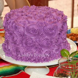 Purple Velvet Cake - Cake by Candy Whiting