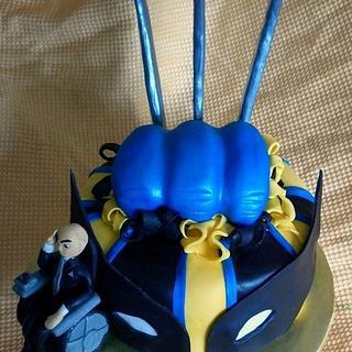 X-Men Wolverine/ Professor X Cake - Cake by Andrea Bergin