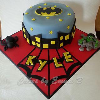 Superhero cake - Cake by CakesByEmmaB