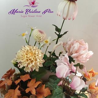 Fall flowers arrangement
