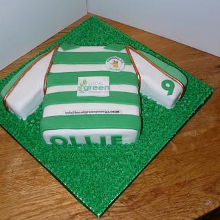Foxhall boys football club shirt  - Cake by Krazy Kupcakes