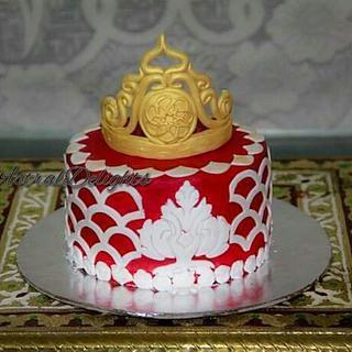 Tiara Cake for my daughter's birthday