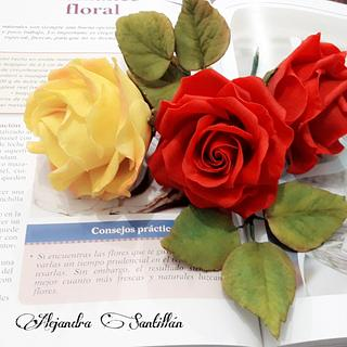 Rosas de azúcar 😊