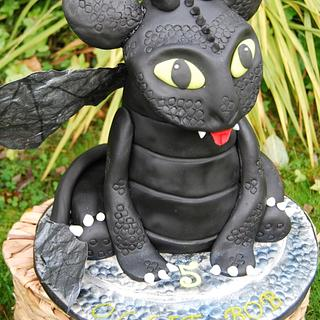 It's a friendly little dragon - Cake by Hannah - Crafnant Cakes