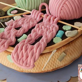 Abuelita tejedora - Cake by Alexrepostería