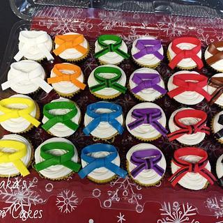 Karate Belt Cupcakes