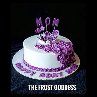 Happy b'day MOM❤️ - Cake by thefrostgoddess