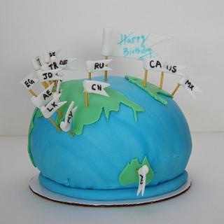 globe cake - Cake by Classic Cakes by Sakthi