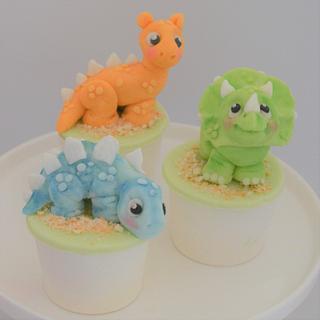 Baby Dinosaur Cupcakes - Cake by Juliana's Cake Laboratory