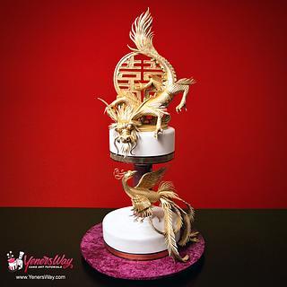 Dragon and Phoenix Cake - Cake by Serdar Yener   Yeners Way - Cake Art Tutorials