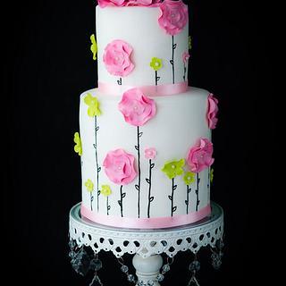 Flower Baby Shower Cake - Cake by Hazel Wong Cake Design