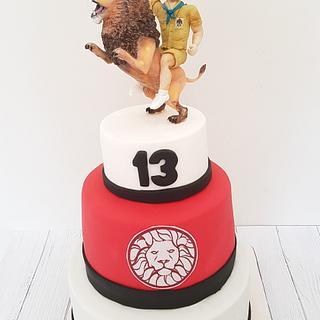 Lion cake scout bd boy - Cake by Netta