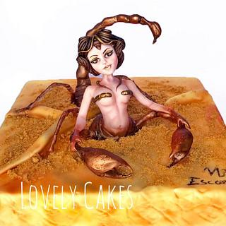 Queen Scorpion ( Zodiac Cake Challenge)