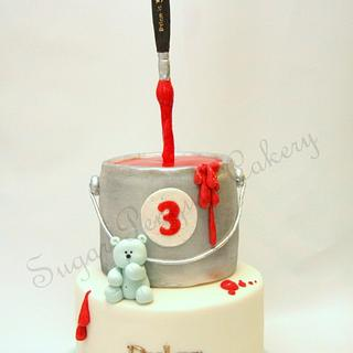 Gravity-Defying Art-themed Birthday Cake