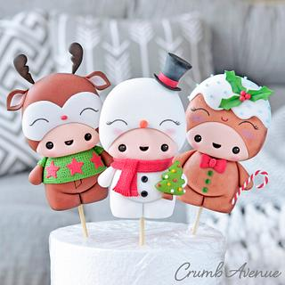 Cute Christmas Cake Toppers