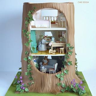 The Tree House- Gold award at Cake Internationl  - Cake by Karla (Sweet K)