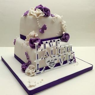 Live, Laugh, Love Wedding Cake - Cake by Sarah Poole