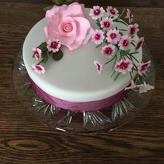Auntie June's 80th birthday cake