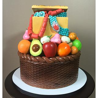 Fruit Basket and Jewelry Cake