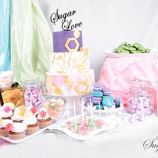 PDCA Caker Buddies Dessert Table Collaboration - Pastel Hues